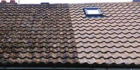 Roof cleaning in Charing